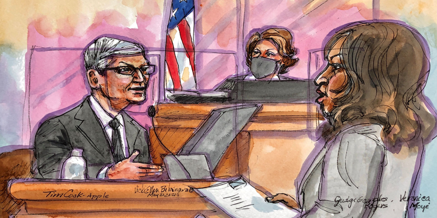 Apple CEO in Court, Tim Cook